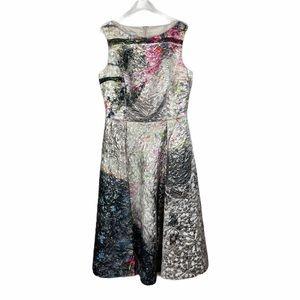 RICKIE FREEMAN FOR TERI JON Metallic jacquard Gown